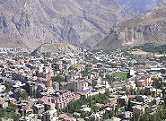 Hakkari city surrounded by mountains
